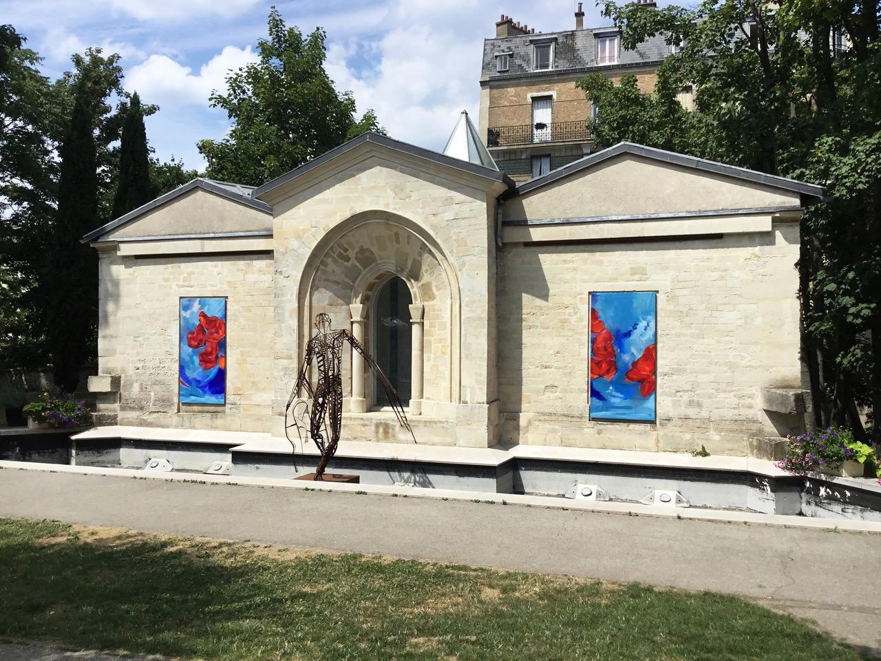 DYPTIQUE - L'envolée des coquelicots 200X100 cm - sculpture : Arthur Joas dans le cadre « Les Estivales» Parc Pinel - 94 Le Kremlin-Bicêtre